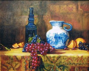 Delft Pitcher with Fruit