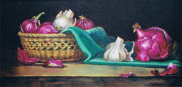 Purple Onions in Basket